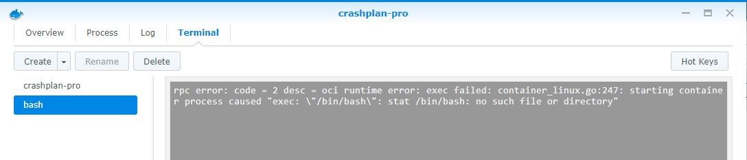 Synology Docker bash terminal fails · Issue #50 · jlesage/docker