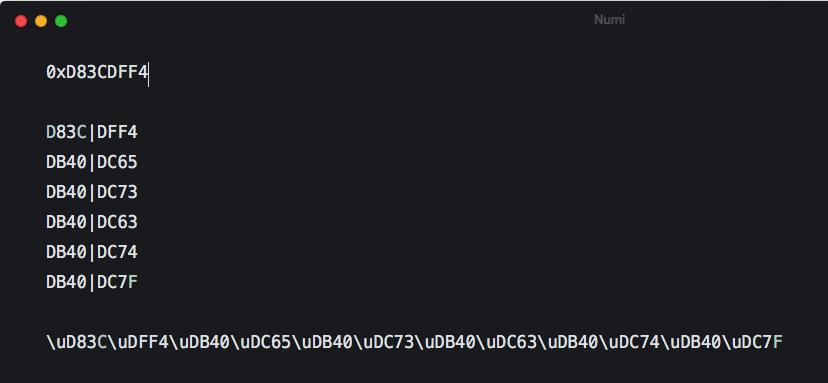 I created new flag and I applied UTF-16 to Twenoji's JS, but