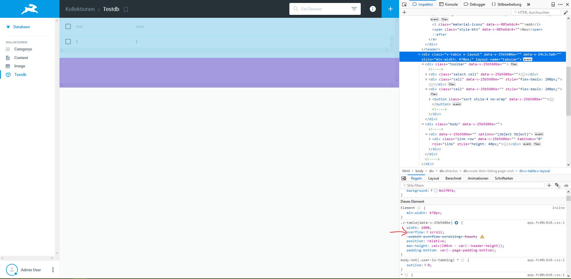 Visual scrollbar bug · Issue #980 · directus/app · GitHub