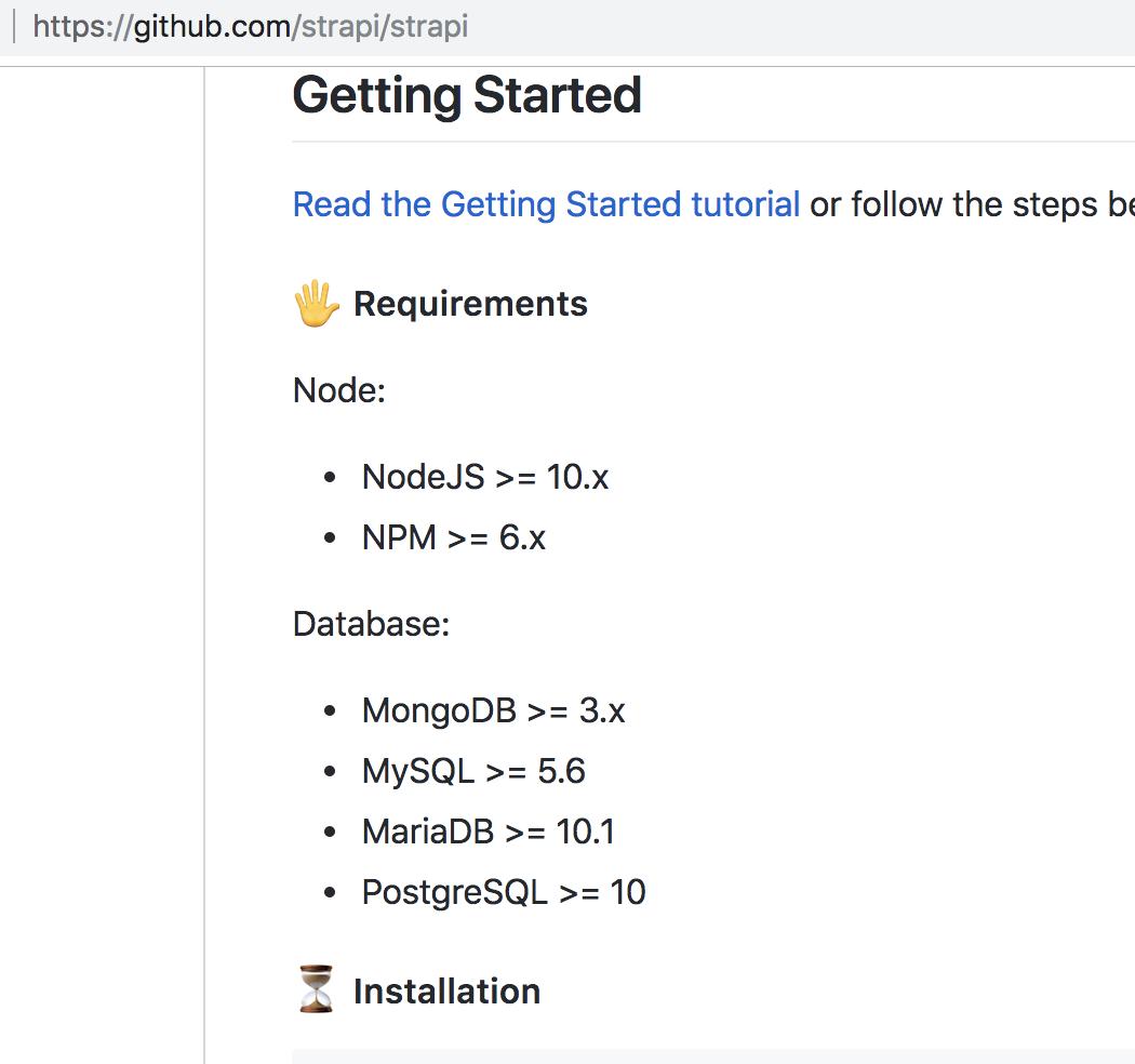 node version? · Issue #57 · strapi/strapi-docker · GitHub