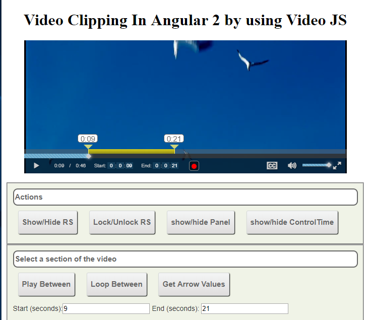 How to download clipped part of video in Angular 2 using
