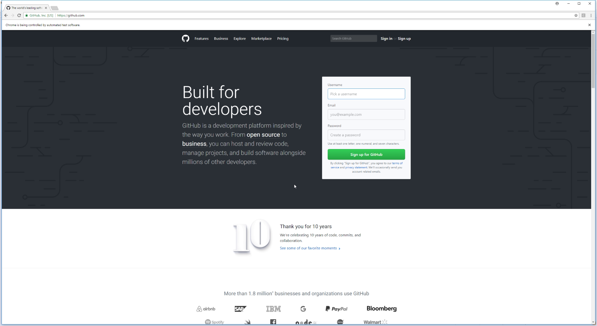 GitHub - JakeJMattson/SpamBot: Multiplying automated browsers