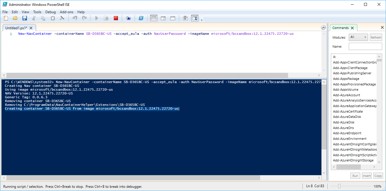 Powershell window stuck on