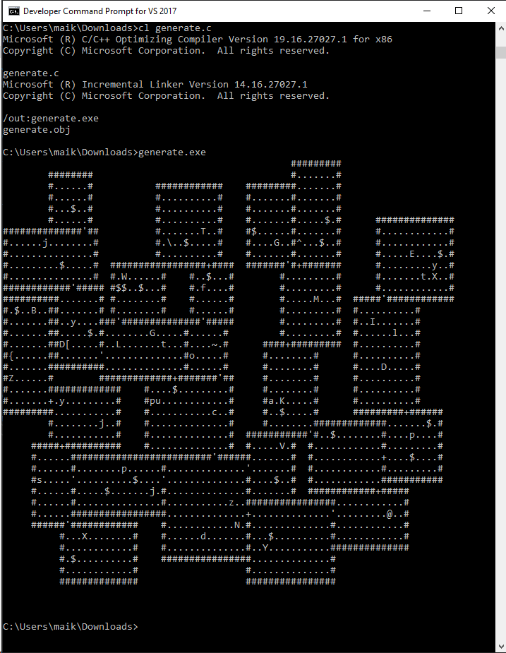 A random dungeon generator that fits on a business card · GitHub