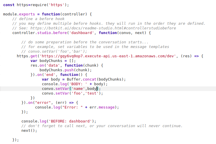 pass result from rest api into studio script · Issue #1380