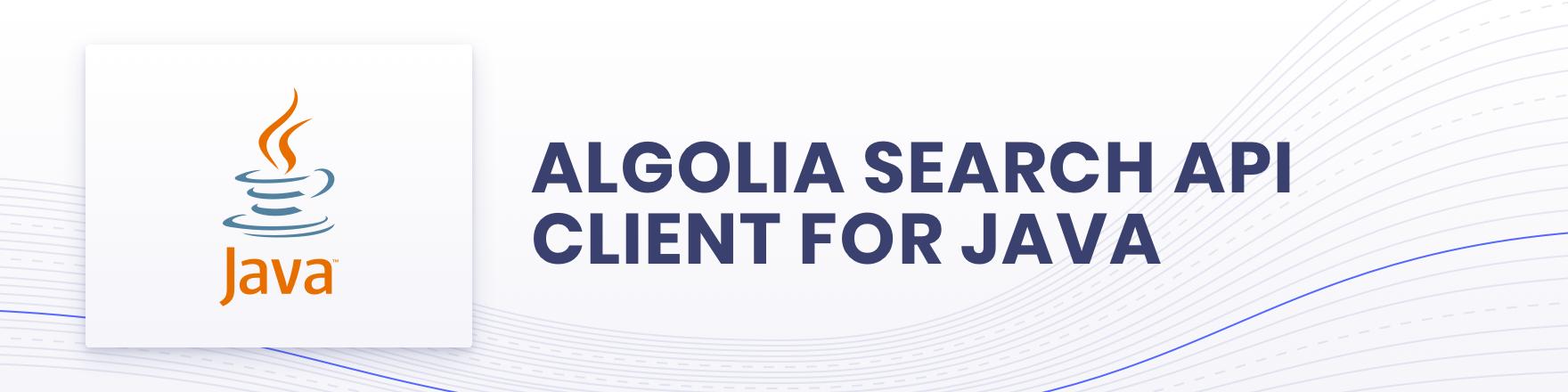 Algolia for Java