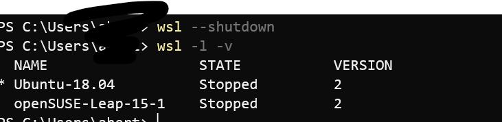 WSL2] Cannot start wsl context / daemon already running