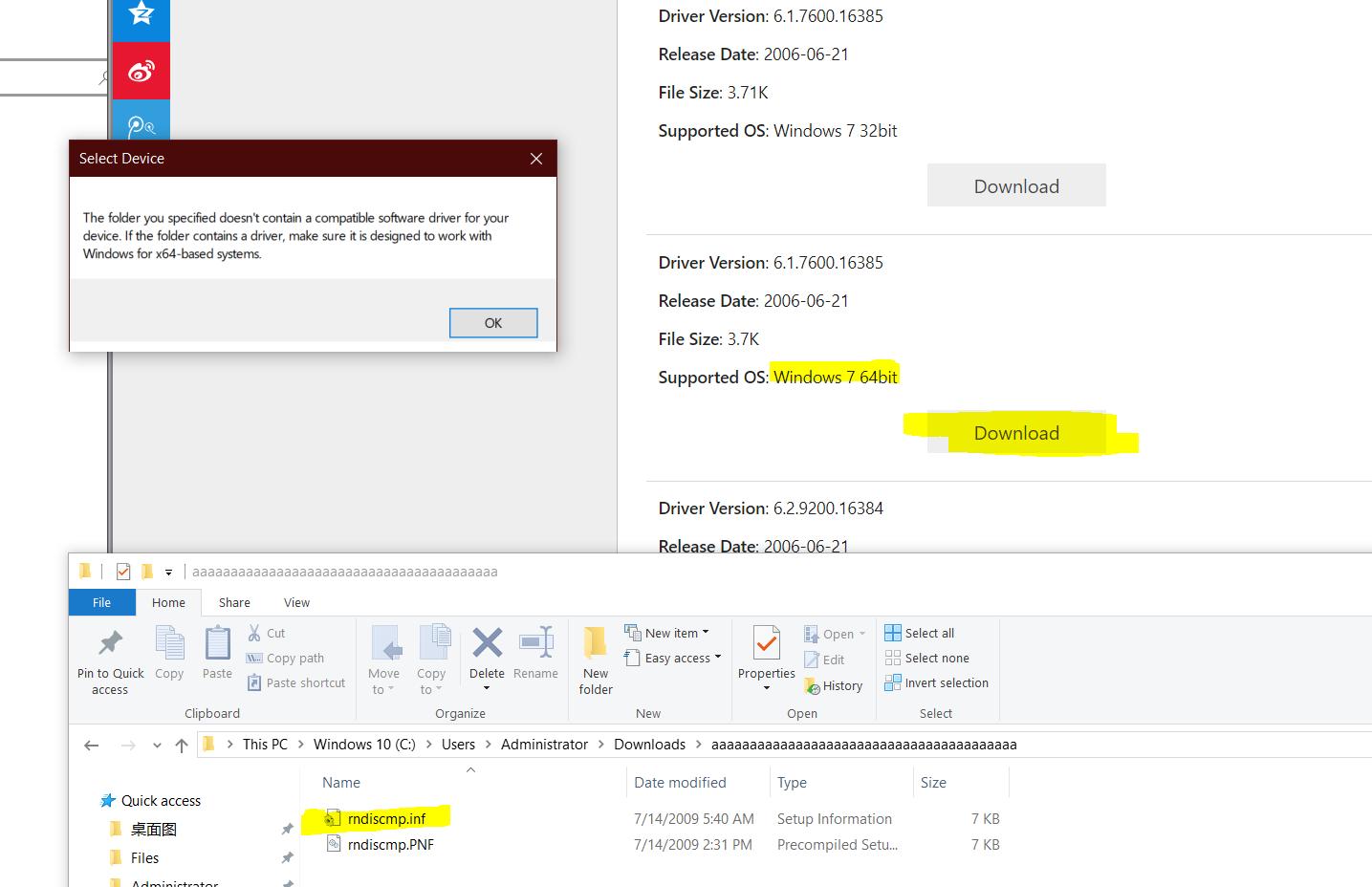 Problem connecting to respiZero 1 3 via usb ssh on win10/Ubuntu