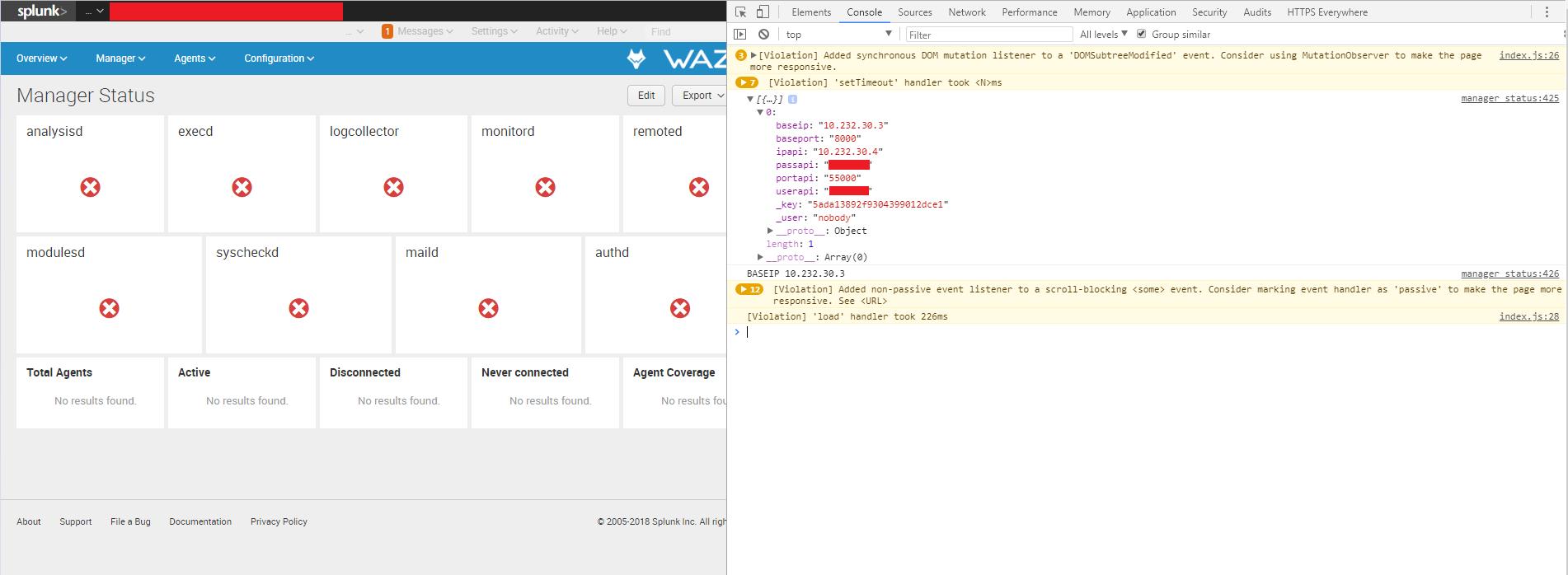 Splunk App Connection with Wazuh API · Issue #40 · wazuh
