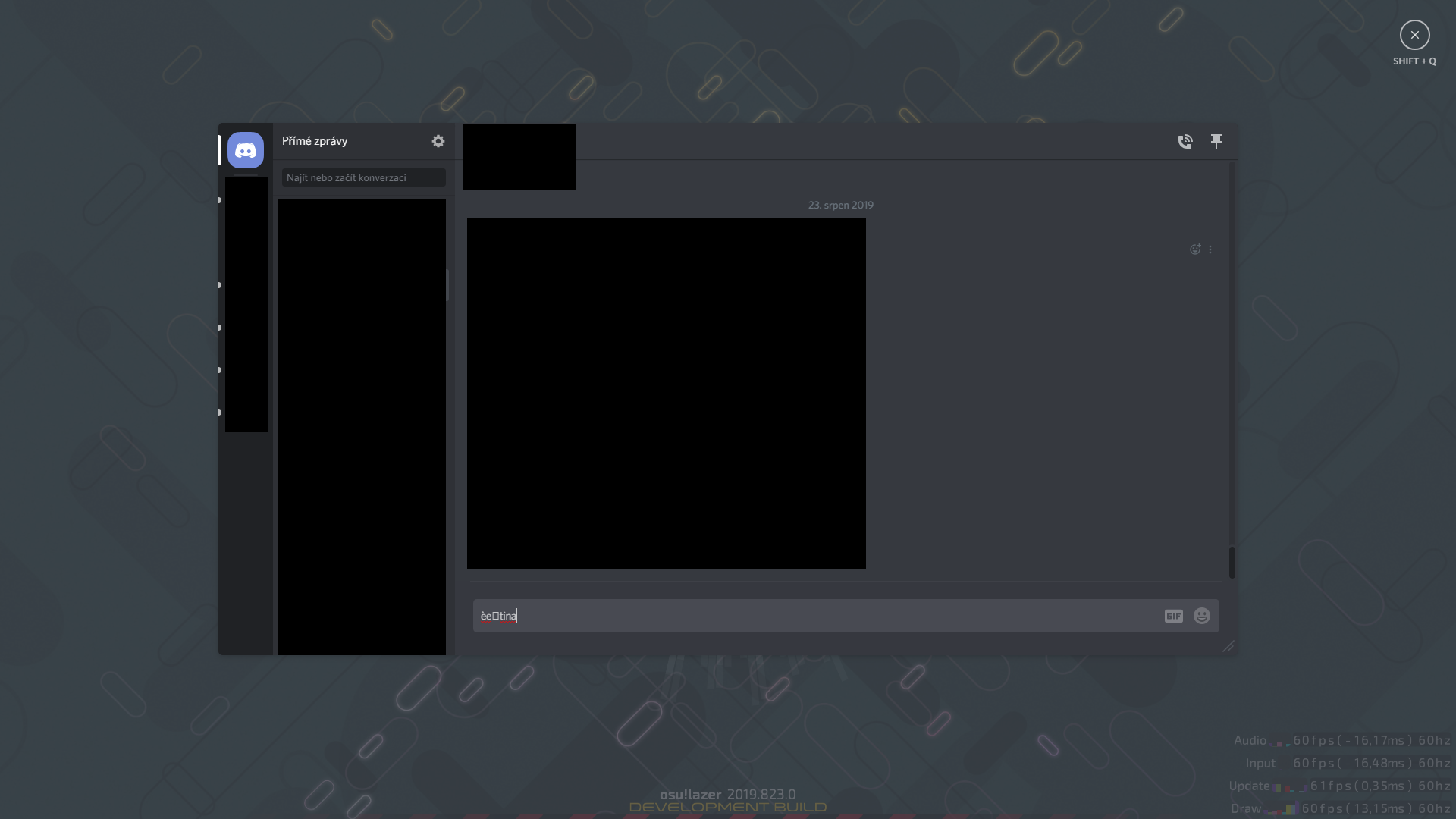 Discord overlay and non English letters · Issue #5819 · ppy