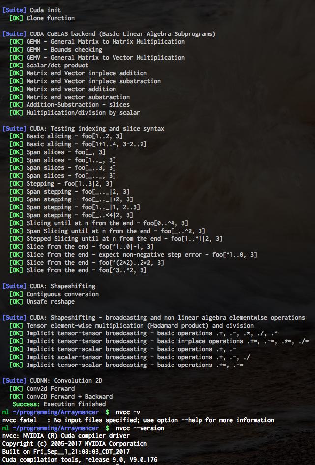 Support for cuda-9 0 · Issue #235 · mratsim/Arraymancer · GitHub