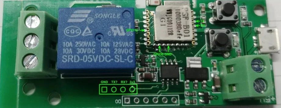 New ESP8285 based 1Channel Inching/Locking 5V/12V Sonoff