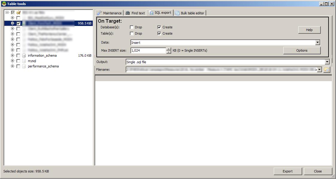 heidisql export dialog enhancement suggestion 1