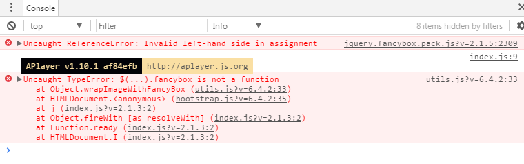 Uncaught TypeError: $(   ) fancybox is not a function · Issue #3