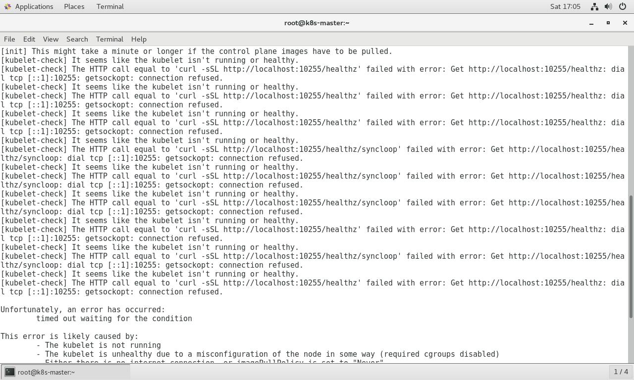 kubeadm init --kubernetes-version=v1 8 0 fail with