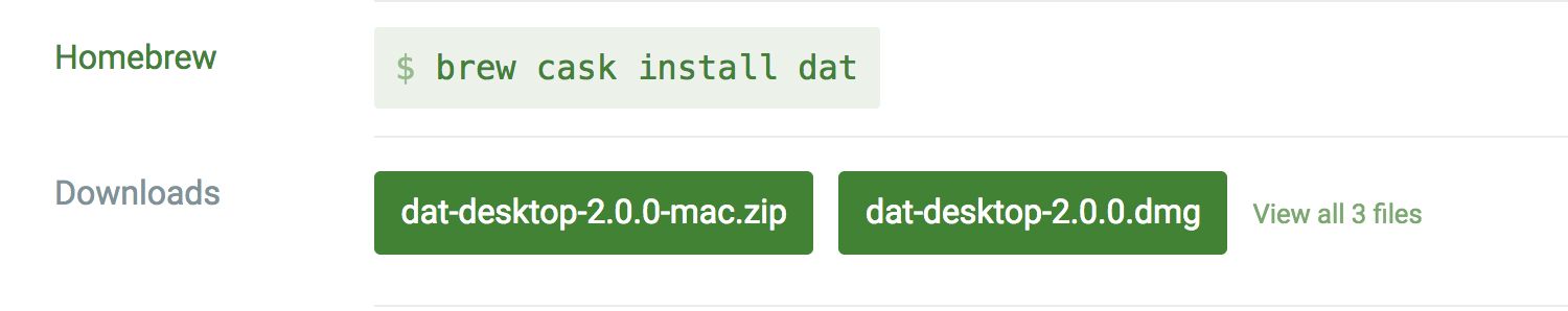 Installation options tailored for your platform: macOS, Windows, Linux