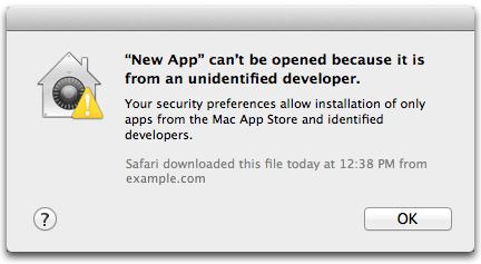 unsigned app warning on macOS