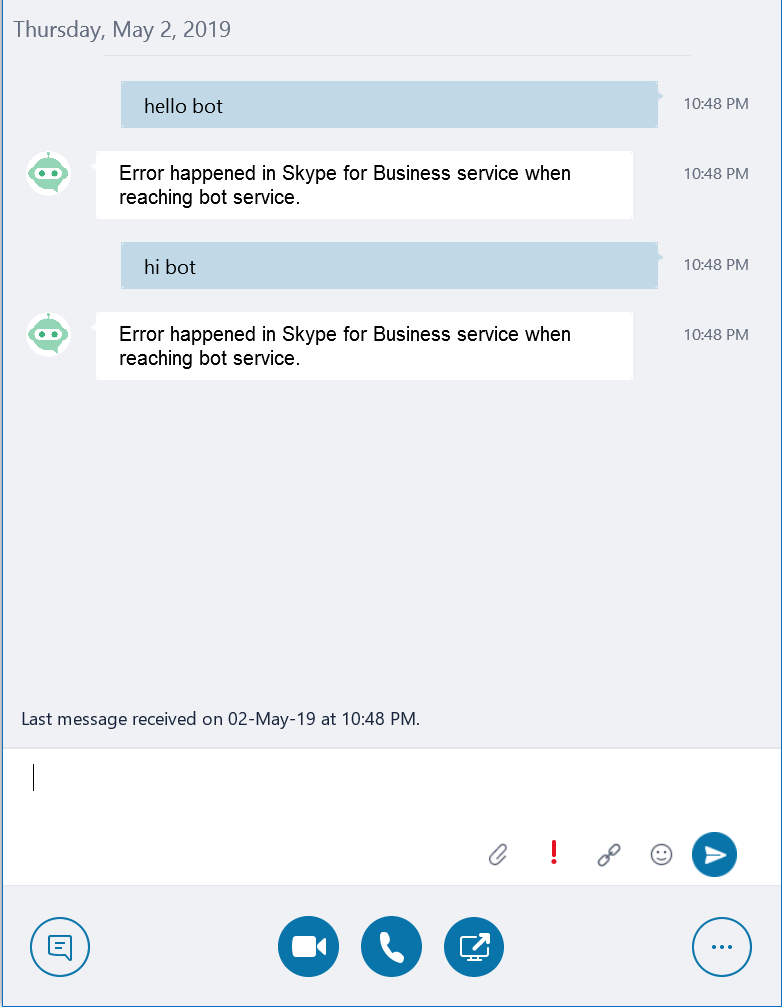 Bot not answering in Skype for Business · Issue #138