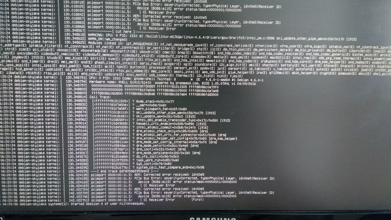 System freeze after login on Debian 9 with discrete cards disabled