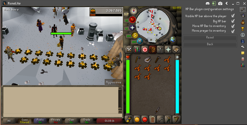 Add HP and Prayer bar on sides of inventory · Issue #2943 · runelite