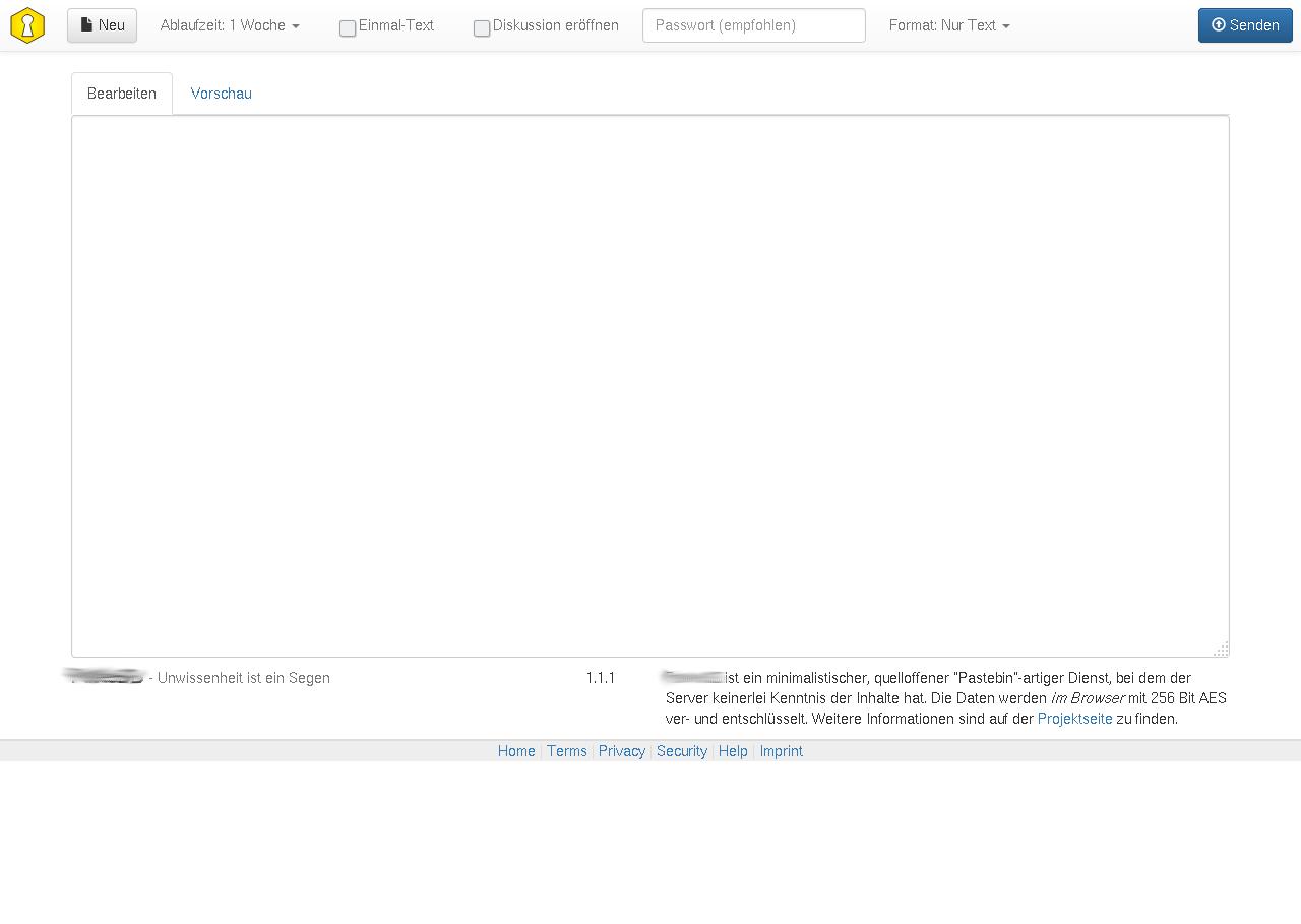 Small template for imprint · Issue #267 · PrivateBin/PrivateBin · GitHub
