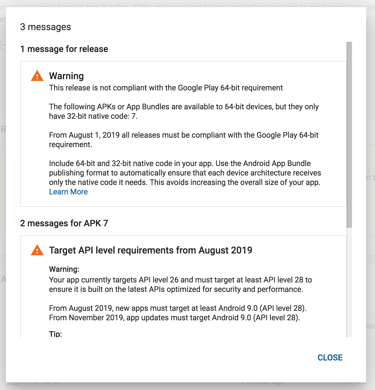 Create a 64-bit version of android by August 1 · Issue #388