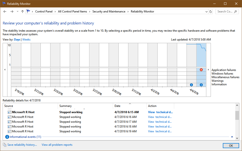 Microsoft R Host always stop working · Issue #4307