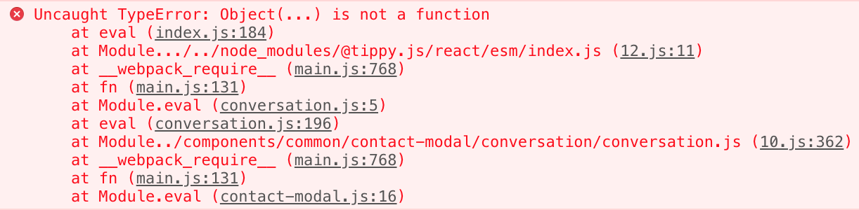 Uncaught TypeError: Object(   ) is not a function · Issue