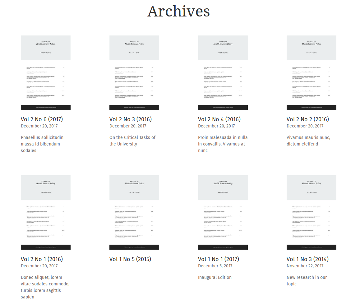 archives page is not showing any issues  u00b7 issue  14  u00b7 pkp  healthsciences  u00b7 github