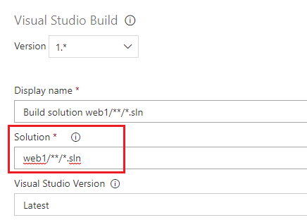 Enable to specify ExcludePatterns for solutions in VS build task and