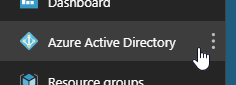 Clicking Azure Active Directory