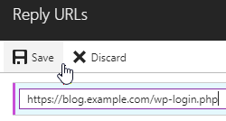 Adding a reply URL