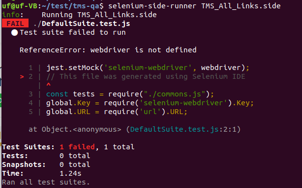ReferenceError: webdriver is not defined · Issue #731