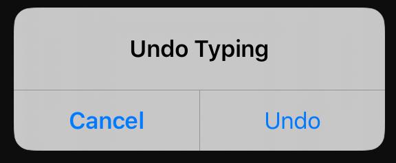 "Useless shake to ""Undo Typing"" modal dialog box · Issue #842 ·  blinksh/blink · GitHub"