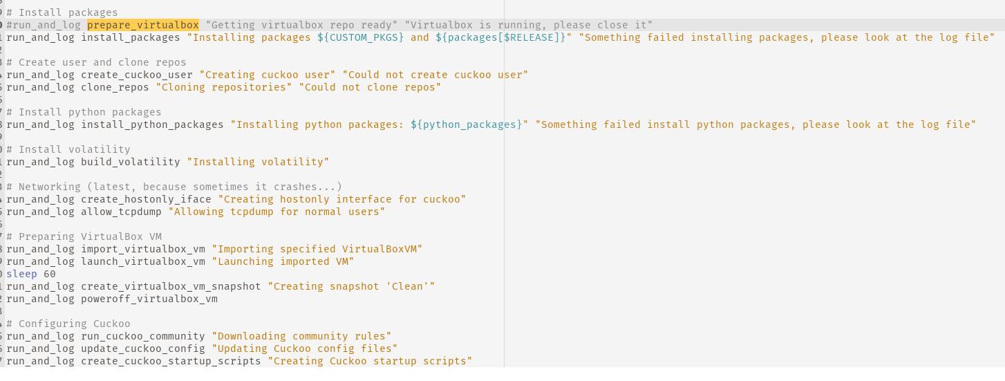 Mostly painless Cuckoo Sandbox install · GitHub