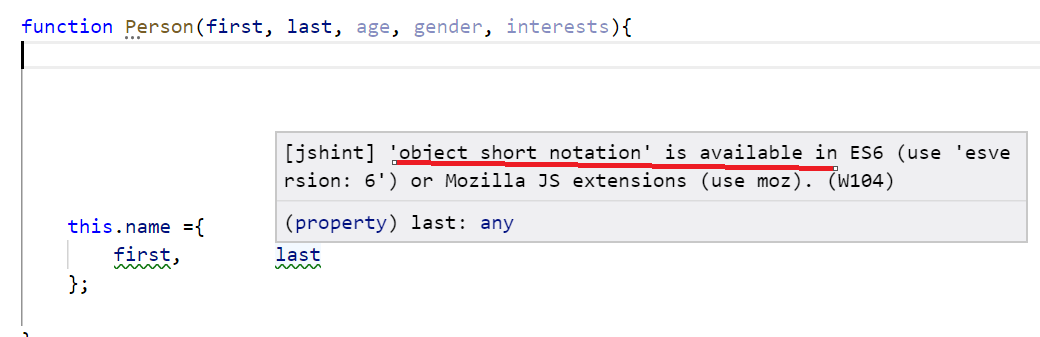 Object Short Notation Is Available In Es6 What Does It Mean Issue
