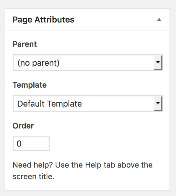 Page Attributes Template Is Missing Issue 4895