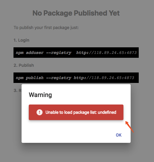 Unable to load package list: undefined · Issue #992