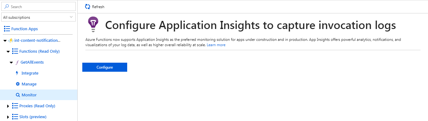 Function App log invocation with App Insights · Issue #2457