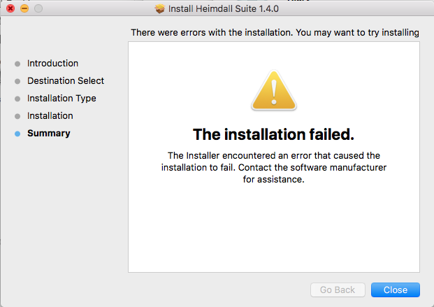 Installation fails on OS X 10 11 (El Capitan) · Issue #291