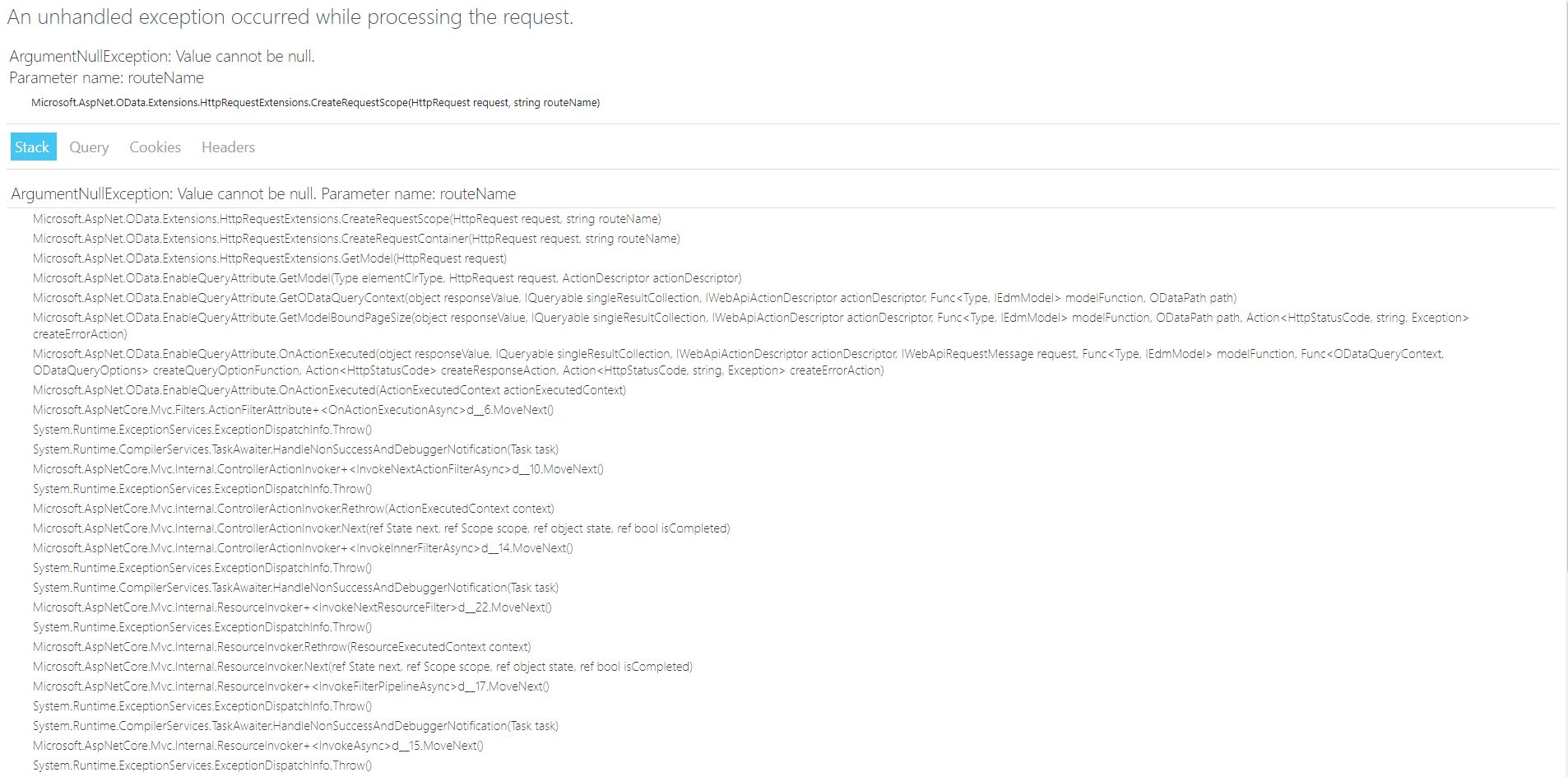 Asp  NET Core [feature / netcore] · Issue #1177 · OData