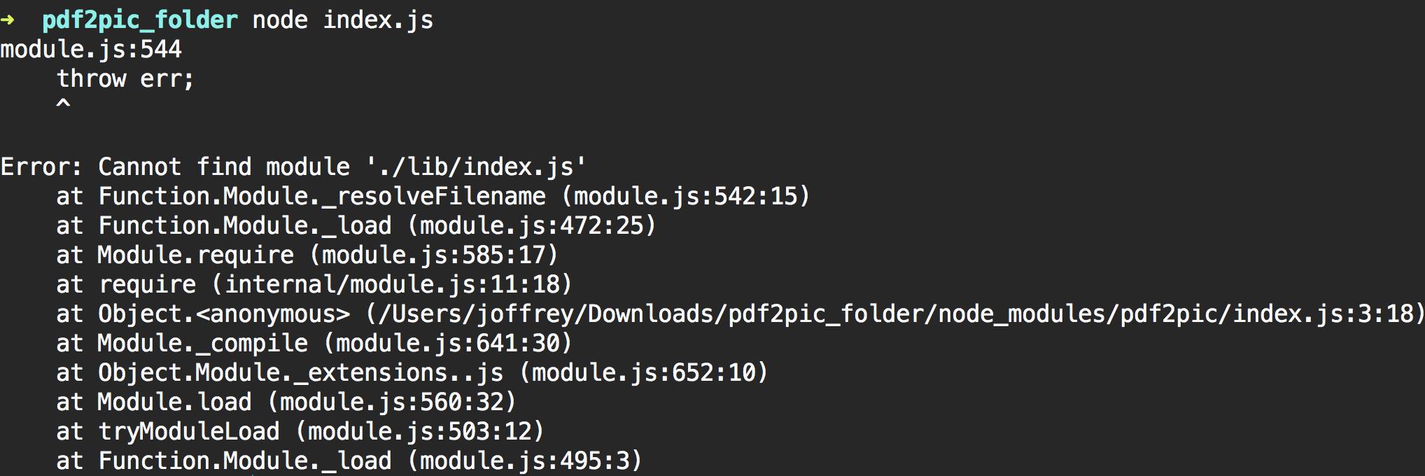 Module Error · Issue #4 · yakovmeister/pdf2image · GitHub
