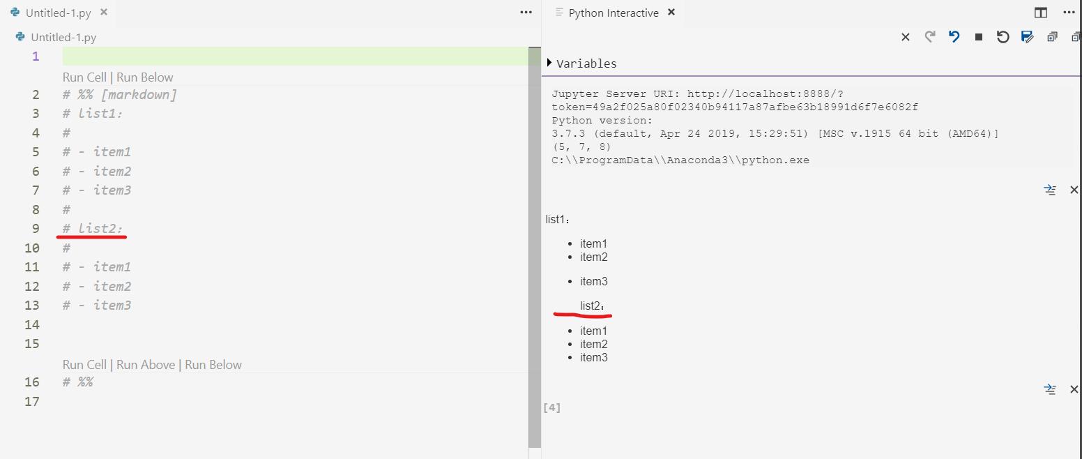 Python markdown formatting