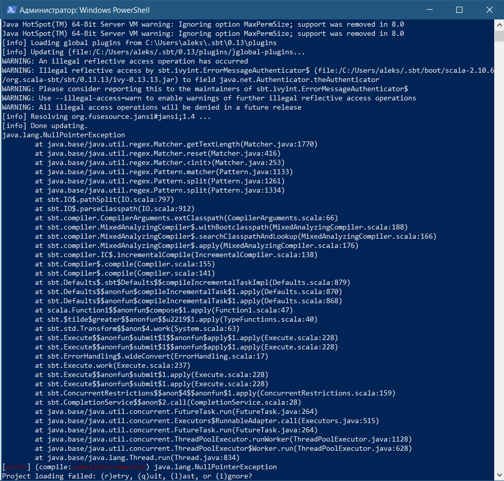 Error while importing sbt project · Issue #1 · Chymyst