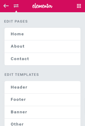 elementor-pages-switcher