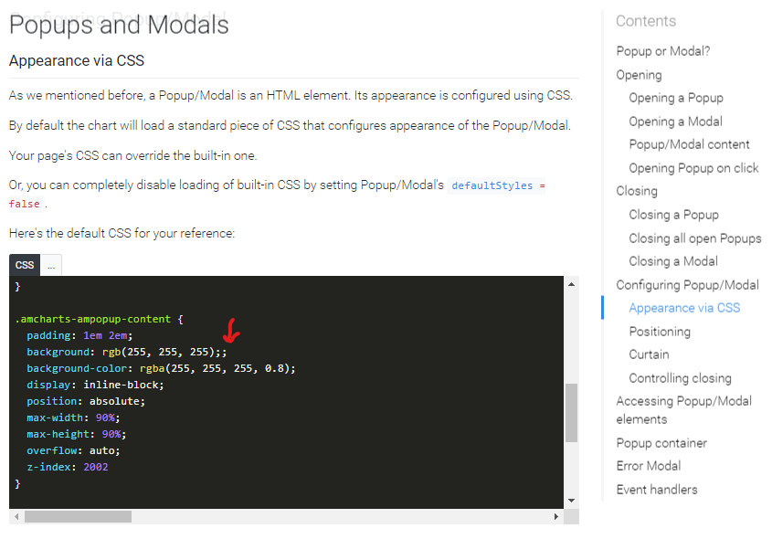 Popup docs: Remove extra semicolon · Issue #1351 · amcharts