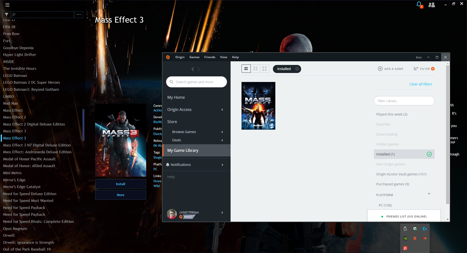 Origin games don't show up as installed · Issue #901