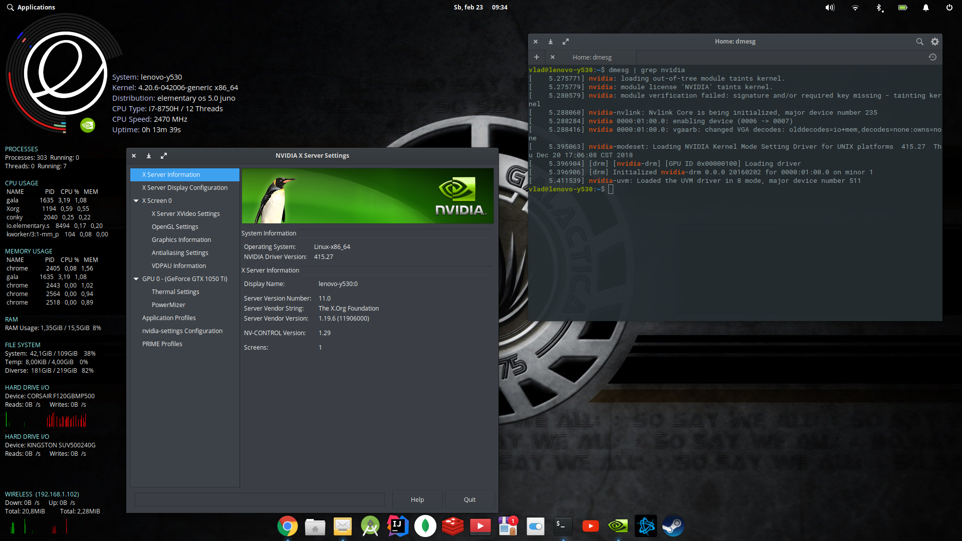 nvidia driver not working after kernel update