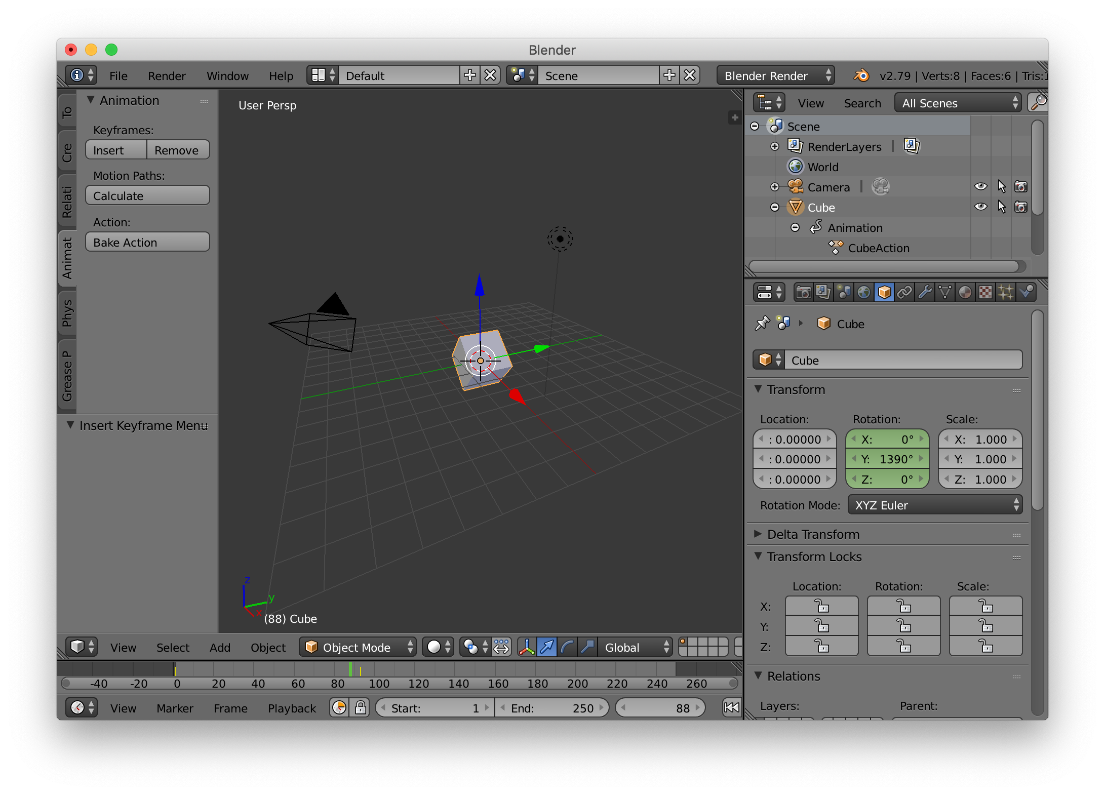 Rotation animation should be stored using Euler not Quaternions