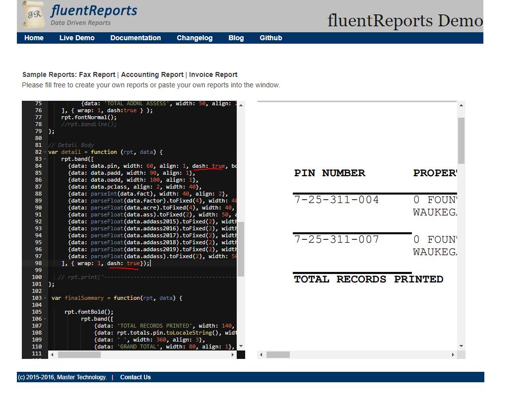 fluentreports - Bountysource